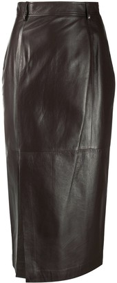 Simonetta Ravizza Leather Pencil Skirt