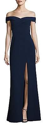 Aidan Mattox Women's Off-The-Shoulder Crepe Gown - Size 0