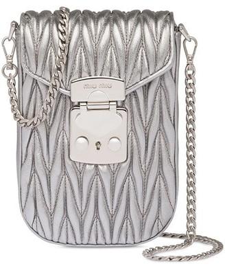 Miu Miu Matelasse leather mini-bag