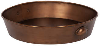 """Laurèl Kate and Forgeham Round Metal Tray with Handles - 18"""" x 18"""""""