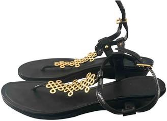 Diane von Furstenberg Black Patent leather Sandals