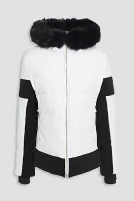 Fusalp Faux Fur-trimmed Two-tone Hooded Ski Jacket