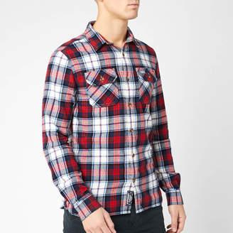 Superdry Men's Classic Lumberjack Shirt - White Check - S