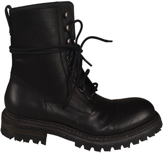 Del Carlo Classic Combat Lace-up Boots