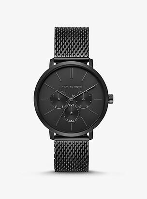 Michael Kors Oversized Blake Black-Tone Mesh Watch - Black