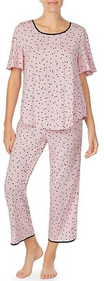 Kate Spade Scattered Dot Modal Cropped Pajama Set