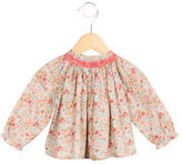 Bonpoint Girls' Floral Print Gathered-Accented Top