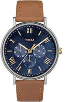 Timex Unisex TW2R29100 Southview 41 Multifunction Leather Strap Watch