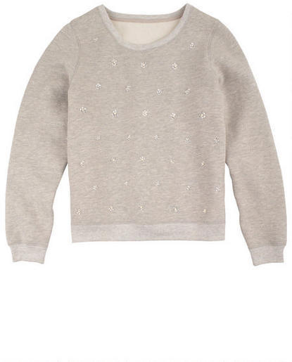 Delia's Pearl Embellishment Sweatshirt