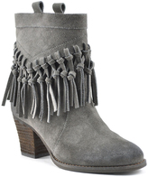 Sbicca Charcoal Sound Fringe Suede Boot