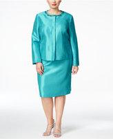 Kasper Plus Size Beaded Skirt Suit