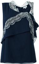 Carven asymmetric sleeveless top - women - Polyester/Acetate/Silk - 40