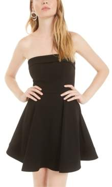 B. Darlin Juniors' Strapless A-Line Dress, Created for Macy's