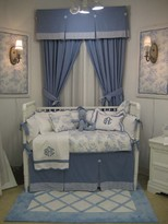 The Well Appointed House Sterling Anabella Cape Cod Designer Baby Crib Bedding Set -FREE SHIPPING!
