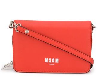 MSGM Logo Print Crossbody Bag