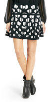 Diane von Furstenberg Flote Fit and Flare Knit Skirt In Black/white
