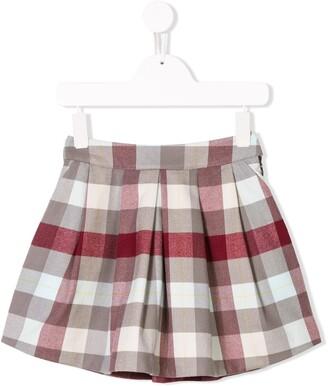 Knot Check Mini Skirt