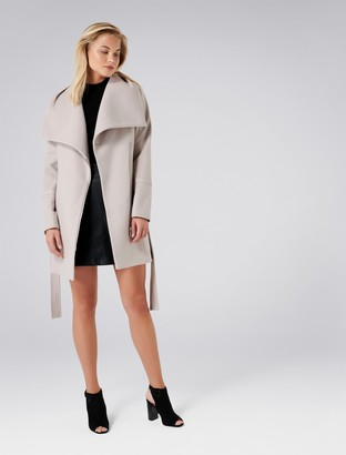 Forever New Trixie funnel coat - Mink - 4