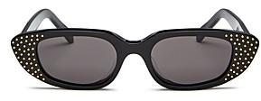 Celine Women's Slim Studded Cat Eye Sunglasses, 51mm
