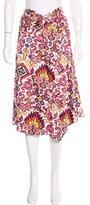 Dries Van Noten Geometric Print Midi Skirt