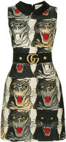 Gucci tiger print dress - women - Silk/Polyamide/Acetate/Wool - 40