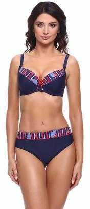 Merry Style Women's Bikini Set P63581 (Navy/Red EU (Cup 85 E/Bottom 42) = UK (38 E/14)
