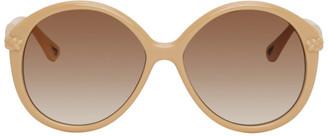 Chloé Beige Braided Billie Round Sunglasses