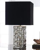 Silver Block Table Lamp