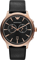 Emporio Armani AR1792 stainless steel and leather watch