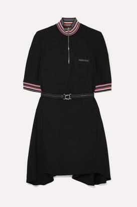 Prada Striped Twill Mini Dress - Black