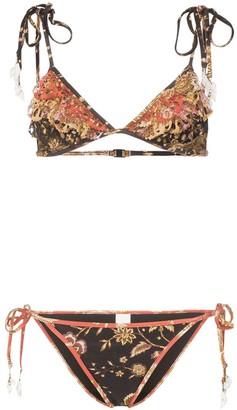 Zimmermann Veneto floral print bikini