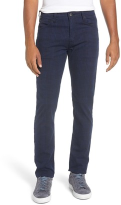 AG Jeans Tellis Slim Fit Plaid Five Pocket Pants