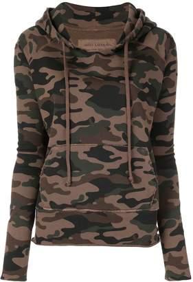 Nili Lotan camouflage print hoodie
