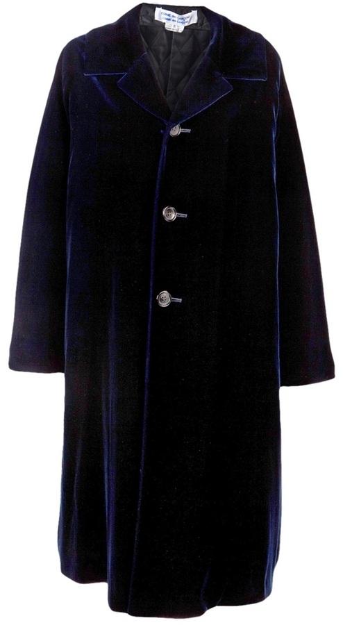 Comme des Garcons Vintage long velvet coat