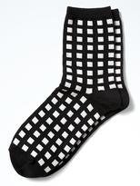 Banana Republic Gingham Plaid Trouser Sock