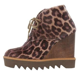 Stella McCartney Stella Mc Cartney \N Brown Faux fur Ankle boots