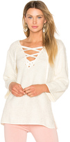 Line & Dot Larch Lace Up Top
