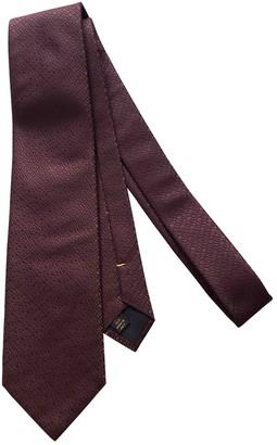 Louis Vuitton Burgundy Silk Ties