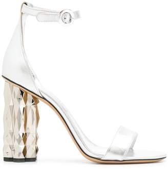 Salvatore Ferragamo ridged heel sandals