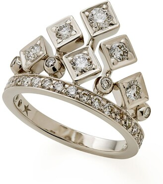 H.Stern Noble Gold and Diamond King & Queen Card Games Ring