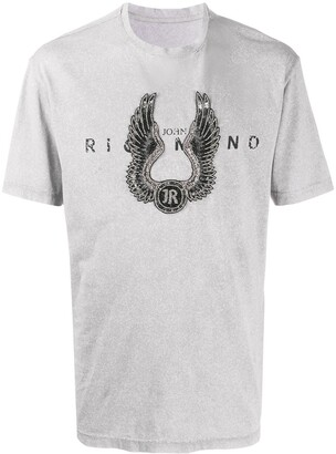 John Richmond beaded-logo T-shirt