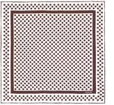 Tom Ford Silk Polka Dot Printed Pocket Square, Red, One Size