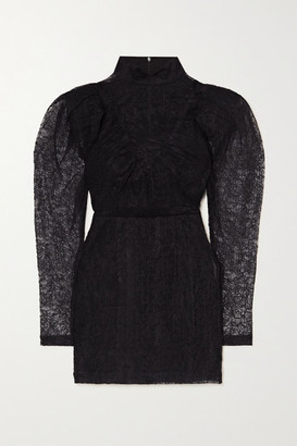 Rotate by Birger Christensen Ida Lace Mini Dress - Black