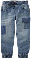 Osh Kosh Toddler Boy Faux-Patched Denim Jogger Pants