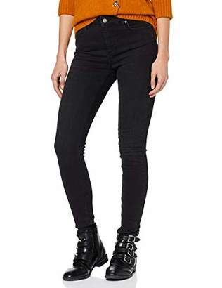 J!NS Pieces NOS Women's Pcdelly B212 Mw Skn JNS Blk/noos Skinny Jeans,40 /L30 (Size: Large)