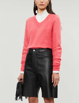 Claudie Pierlot Maribellae V-neck mohair-blend jumper