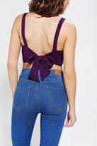 Urban Outfitters Pins And Needles Bow-Back Cropped Tank Top