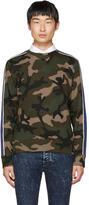 Valentino Brown Camo Stripe Sweatshirt