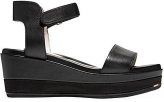 Cole Haan Grand Ambition Leather Platform Wedge Sandals