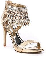 Gianni Bini Avevaa Jeweled Metallic Leather Dress Sandals